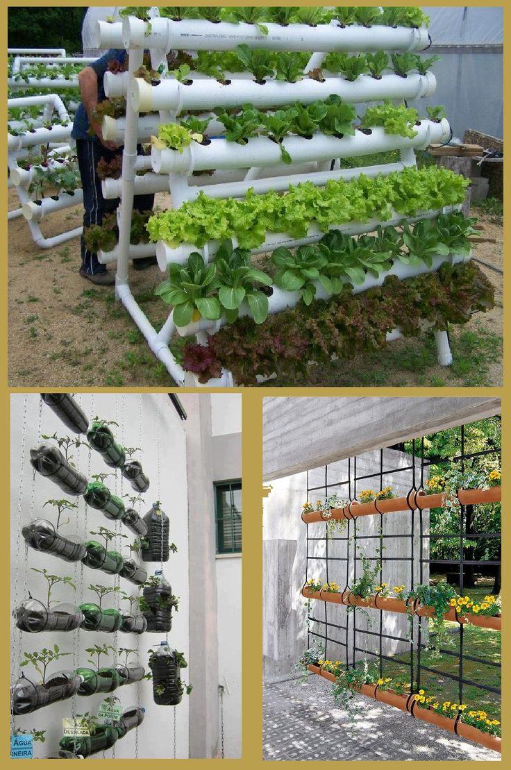 fazer jardim vertical garrafa pet:Jardim vertical de Garrafas Pets e Pvc