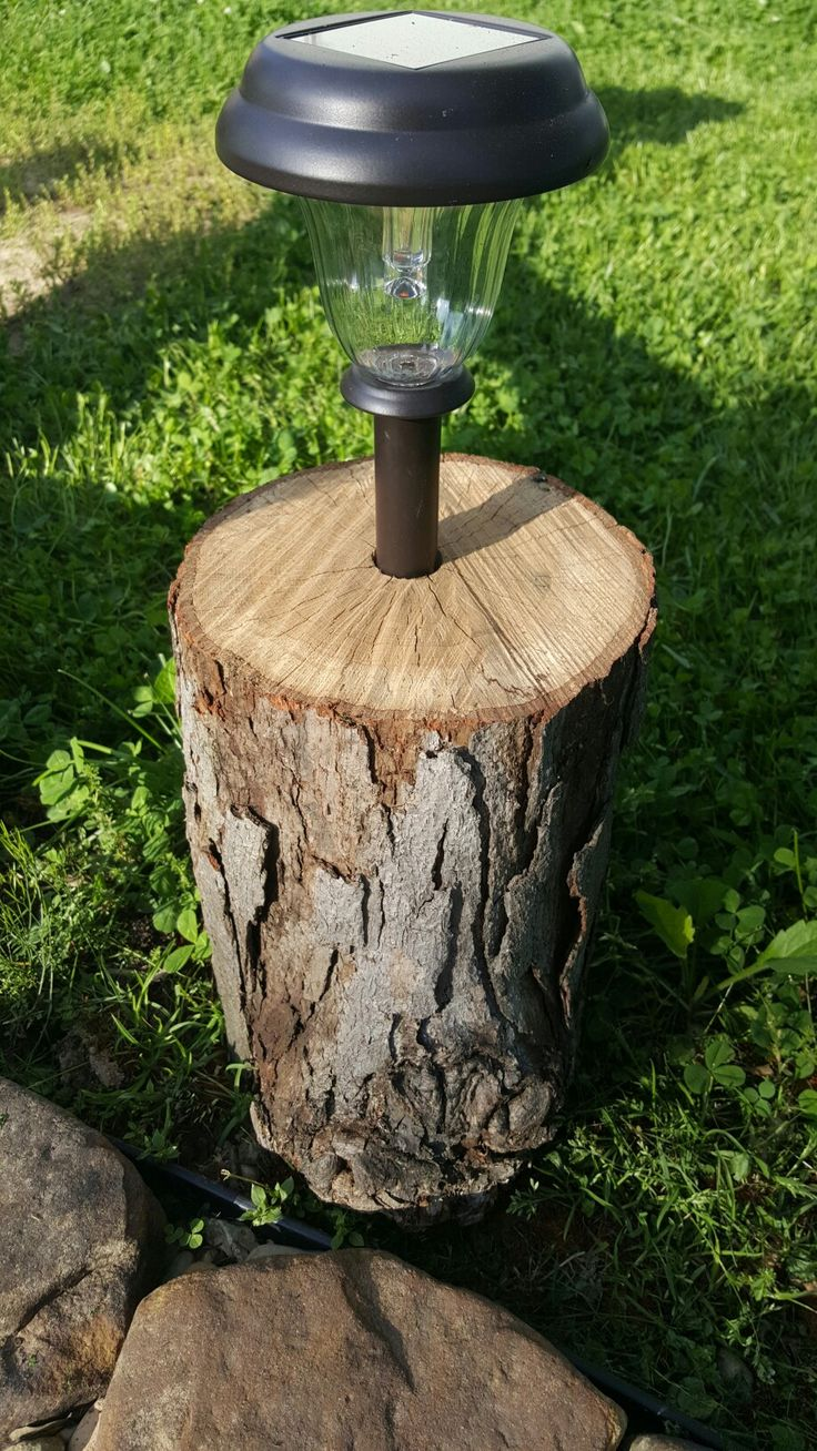 "Cheap and easy protection for solar landscape lights. Drill a 1"" hole as deep as your spade bit will go, and drop in your light. Now they won't fall prey to the mower, weed wacker, or clumsy people. Great for walking paths, or around the fire pit."