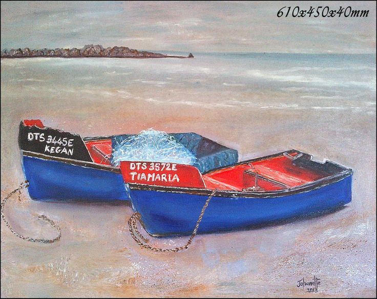"""Kreef """"Bakkies"""" Paternoster Oil Painting Stretched Canvas 610x500x40mm (johanettevandeventer@gmail.com (MY page where you can see all my paintings for sale:https://www.facebook.com/pages/Art-of-being-feminine/216215068495275?ref=hl https://www.facebook.com/media/set/?set=a.462889420494504.1073741855.216215068495275&type=3"""