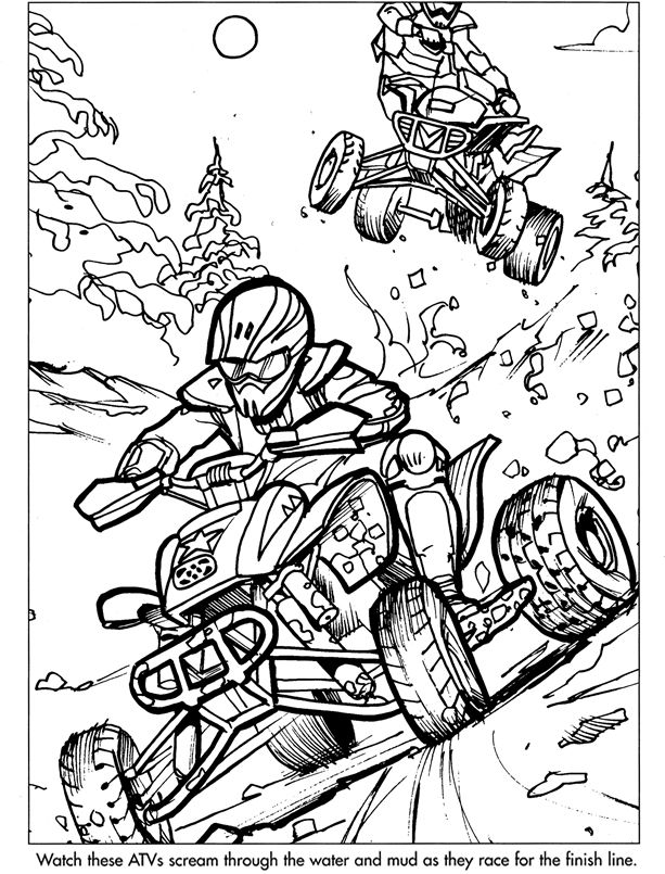 Sample Coloring Pages From Extreme Sports....Dover
