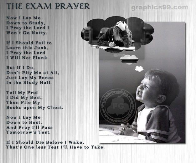 how to pray to pass a test