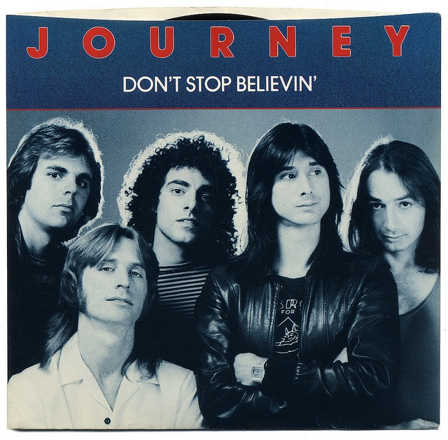 dont stop believin 1:dude, did you hear jim doesn't know the lyrics to don't stop believin   annoying teenage girl: my favourite song ever is don't stop believin' by glee.