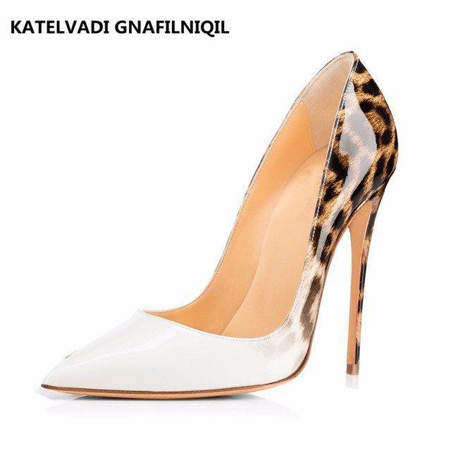 559fe93659120 Evening shoes for women Brand Women Pumps Leopard White Shoes Woman Evening Shoes  Women