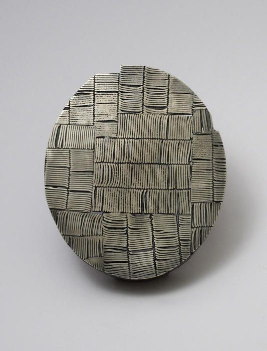 Oval Brooch, Sterling Silver, Heather Woof - The Scottish Gallery, Edinburgh - Contemporary Art Since 1842