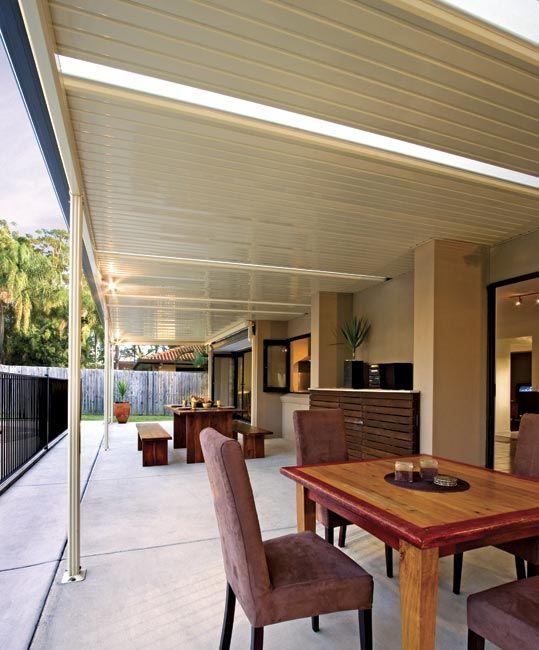 Stratco Flat Roof Pergola Outdoor Decks Amp Patios Patio