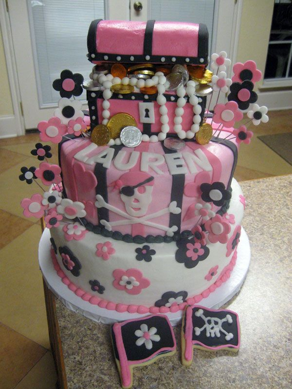 19 best Cake Design for Pirate Princess Party images on Pinterest