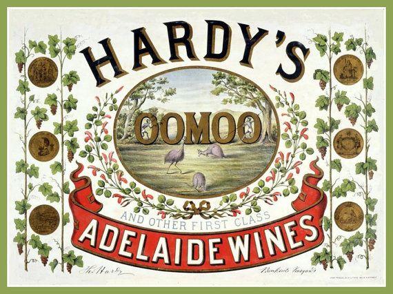 Art Print Australia Hardys Wines Oomoo Adelaide  by BloominLuvly