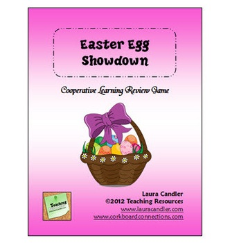 Easter Egg Showdown Review Freebie - fun review game from Laura Candler that you can customize with your own content - includes directions for elementary and middle school students