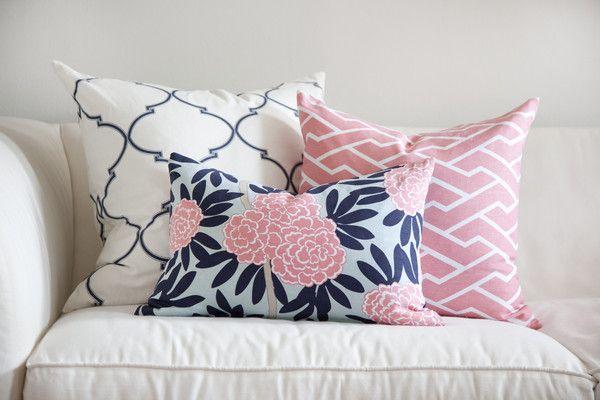 pink city maze pillow