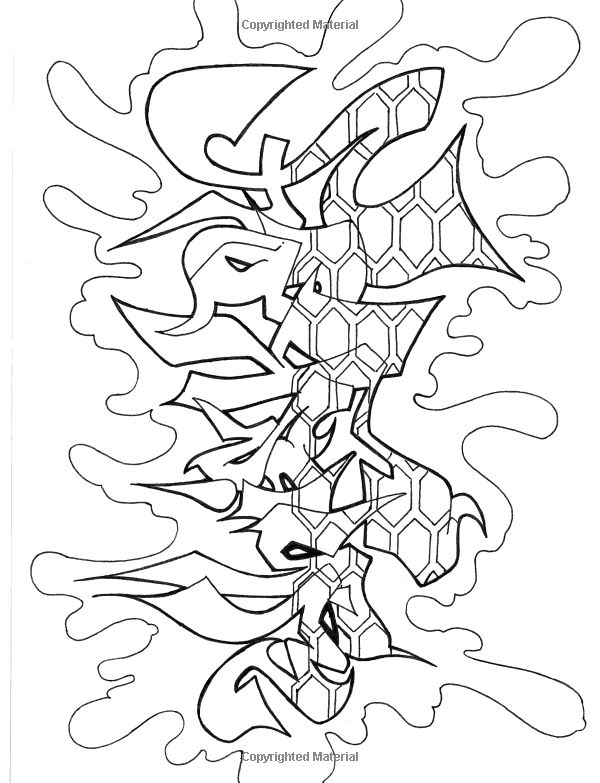 graffiti coloring pages adults - photo#20