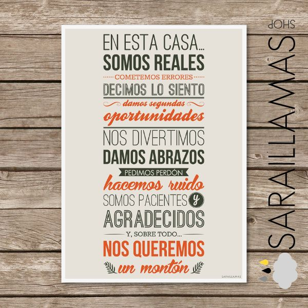 El Blog de Sarai Llamas: En esta casa... somos reales