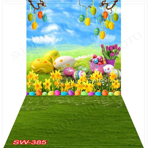 Easterday10'x20'Computer/Digital Vinyl Scenic Photo Backdrop Background SW385B88 #photo backdrops #art prints #easter day