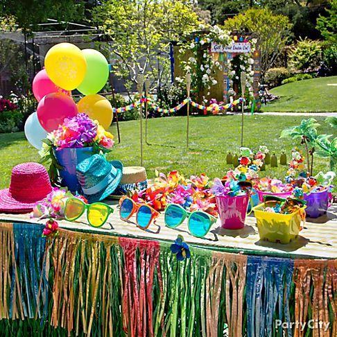 explore luau table decorations