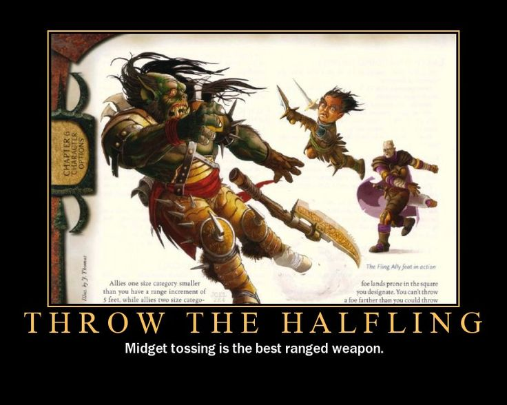 Actually, this happened with my halfling. And with two nat 20's the giant 15 ft tall fly was slaughtered by a 3ft tall halfling.