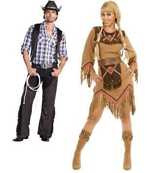 Couples Cowboy and Indian Costume My friend and I were talking about doing this last night:)