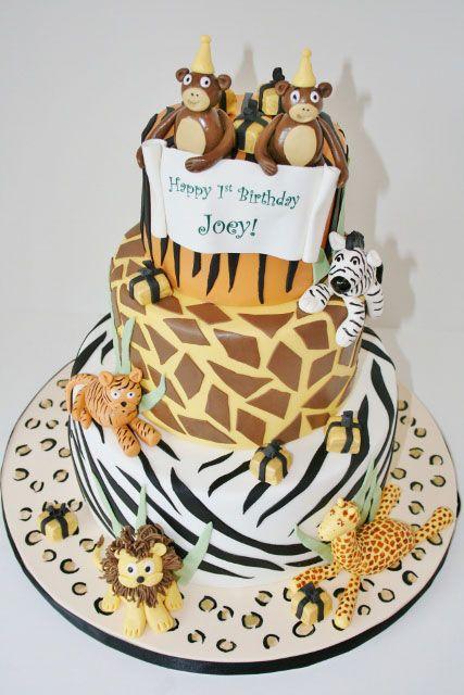 Gâteau d'anniversaire dans le New Jersey – Gâteau personnalisé imprimé animal   – Max