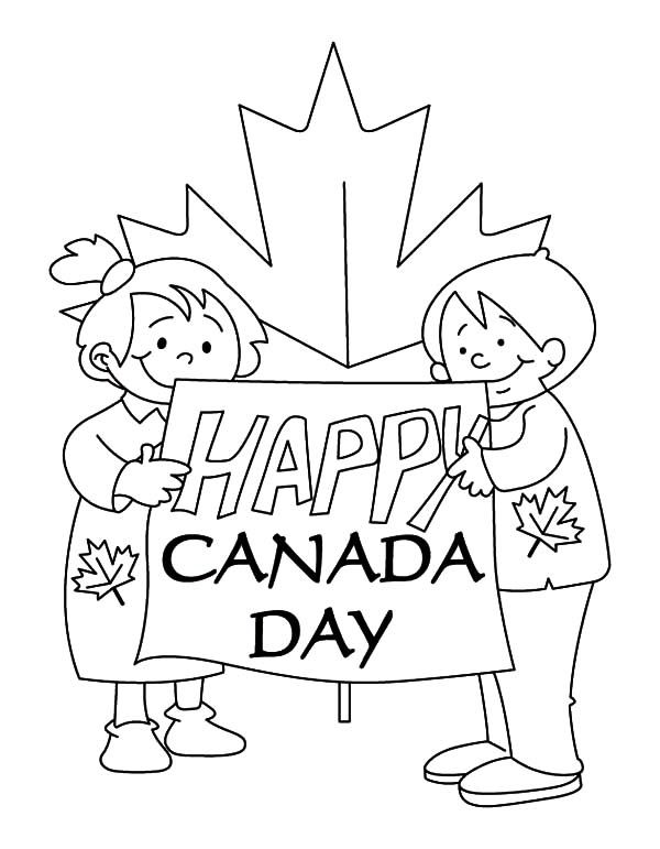 Childrens Make Sign for National Canada Day Coloring Pages                                                                                                                                                      More