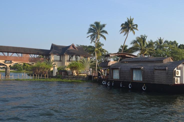 Boarding the House boat from Zuri hotel at Kumarakom, Kerala (God's own country), India