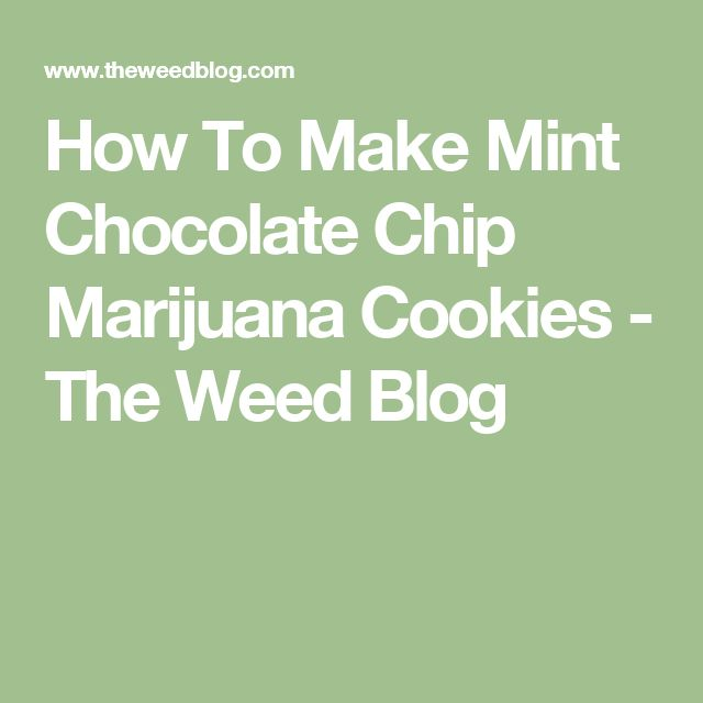 How To Make Mint Chocolate Chip Marijuana Cookies - The Weed Blog