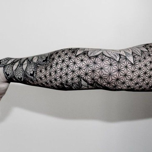 Wonderful Geometric sleeve tattoo Ideas 66 Geometric Sleeve Tattoo Flower with Complicated Patterns