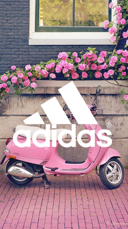 #adidas #wallpapers fond d'ecran rose vespa Italie