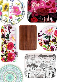 Love these flowery bold trays