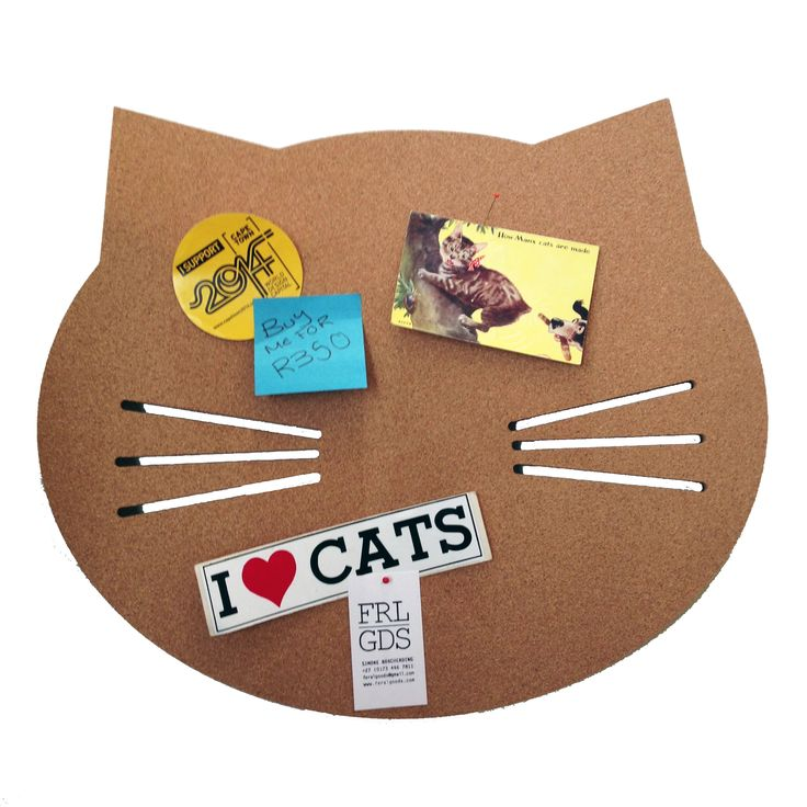 It's a cat corkboard. Exclusive to Feral Goods.