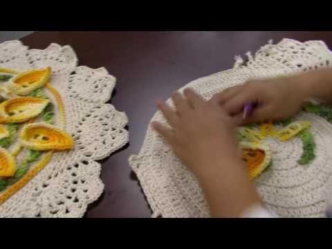 Mulher.com - 27/05/2016 - Toalha de mesa em crochê - Cristina Luriko PT2 - YouTube
