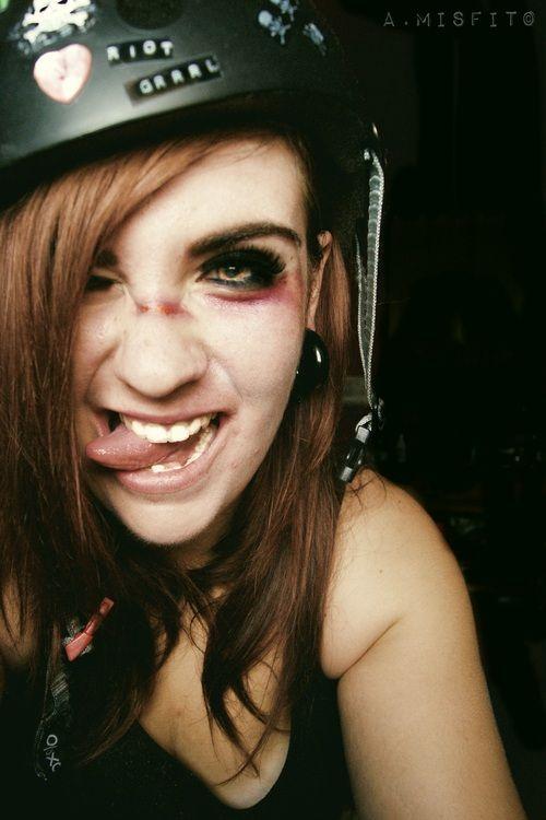 Valencia Roller Derby girl.
