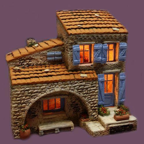 Santons Atelier de Fanny-Santons et Crèches de Noël-Santons de Provence - Maison de village n°7 - 52.00 EUR