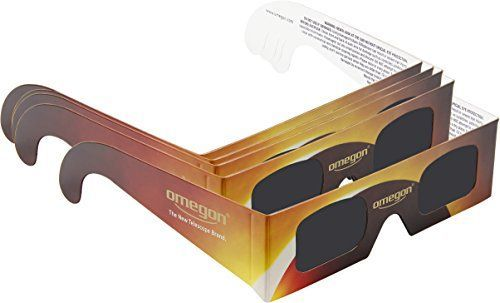 Omegon solar eclipse glasses - Certified SunSafe glasses for directly and safely observing the sun. The ideal glasses for the 2017 total solar eclipse in the USA.When the big moment arrives. When the ...