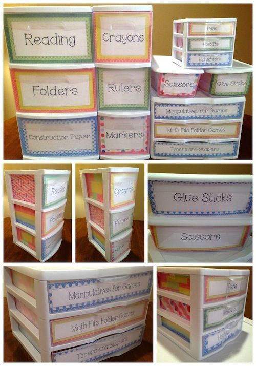 Designer Dots Theme Sterlite Container Templates! Do you like to organize your classroom with clear Sterlite containers of different sizes, but hate that everyone can see inside when it is not always the neatest? The Organized Classroom has solved your problem with these super easy to customize and print templates for the drawers! $