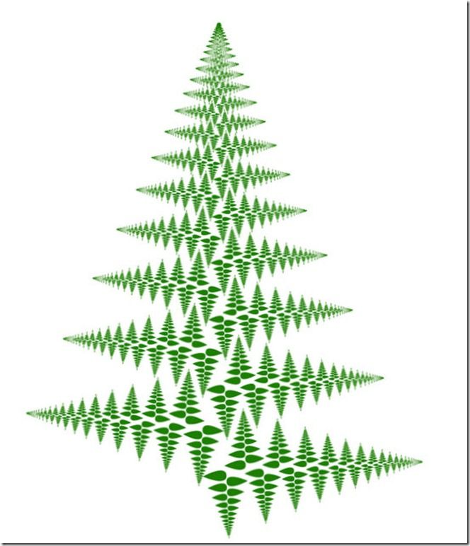 """""""A quick fractal Christmas Tree in Illustrator"""""""