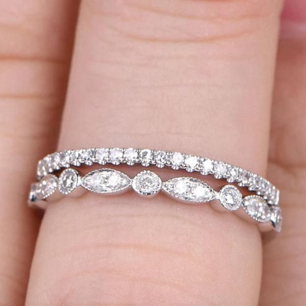 Discover Premium Quality Women S Wedding Band For Engagement Promise Wedding Da White Gold Wedding Ring Set Diamond Wedding Bands Diamond Wedding Rings Sets