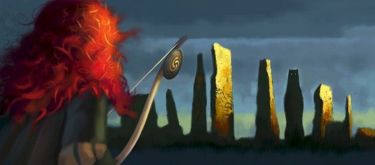 One of Princess Merida's eye-catching features is her bright red hair.