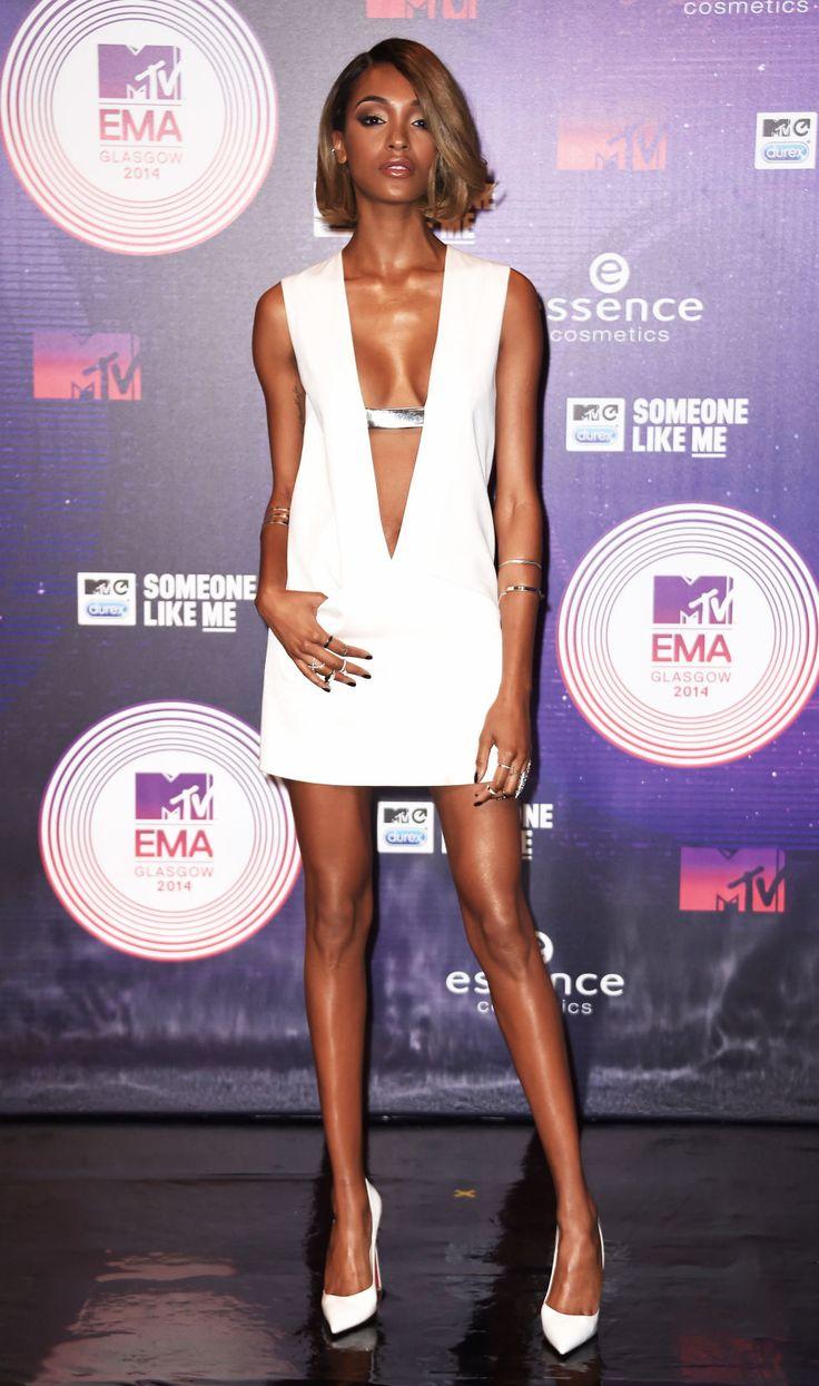 Jourdan Dunn shining in a #MuglerSS15 dress at the MTV EMA Awards