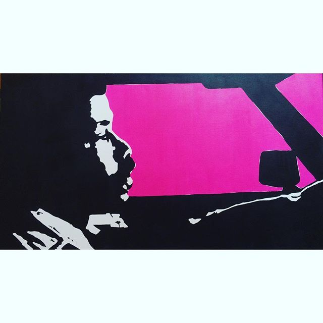 "Crusin' down the street in my six-fo' ""Night Driver"" til salgs!!! Akryl på lerret. 50x90cm - 800kr #Lowrider #blacksploitation #70s #eazy-duz-it #art #instaart #car #pink #cruisin #elcamino #hassebøstrosby #billstopay #julepresang ??"