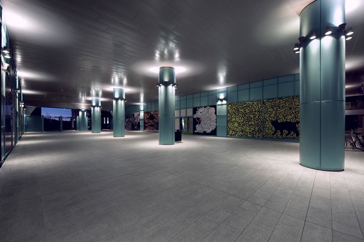 Novoli Mall (once Fiat area): a project by Isola Associati. Products: Walkie car marker , Porfido RGB , Walkie Takie 50 and fixture Drop Wall
