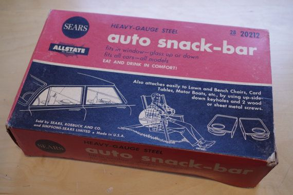 Vintage 1950s Sears Car Hop Style Set of 2 Snack Trays by retrowarehouse