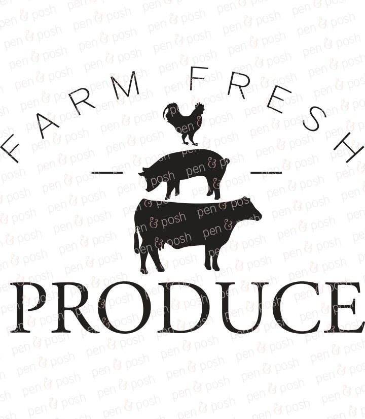 Farm Fresh Produce Svg Farmhouse Svg Kitchen Svg Svg Etsy In 2020 Svg Quotes Silhouette Diy Clip Art