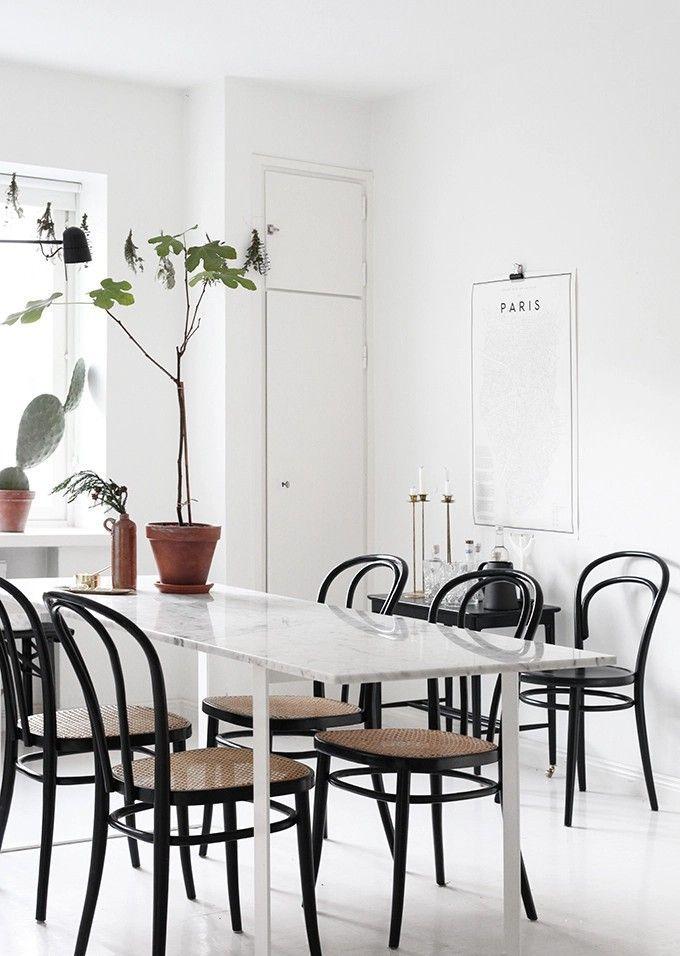 stühle schwarz esszimmer modern
