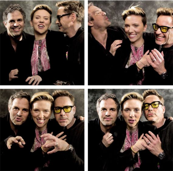 Mark Ruffalo, Scarlett Johansson and Robert Downey Jr.,