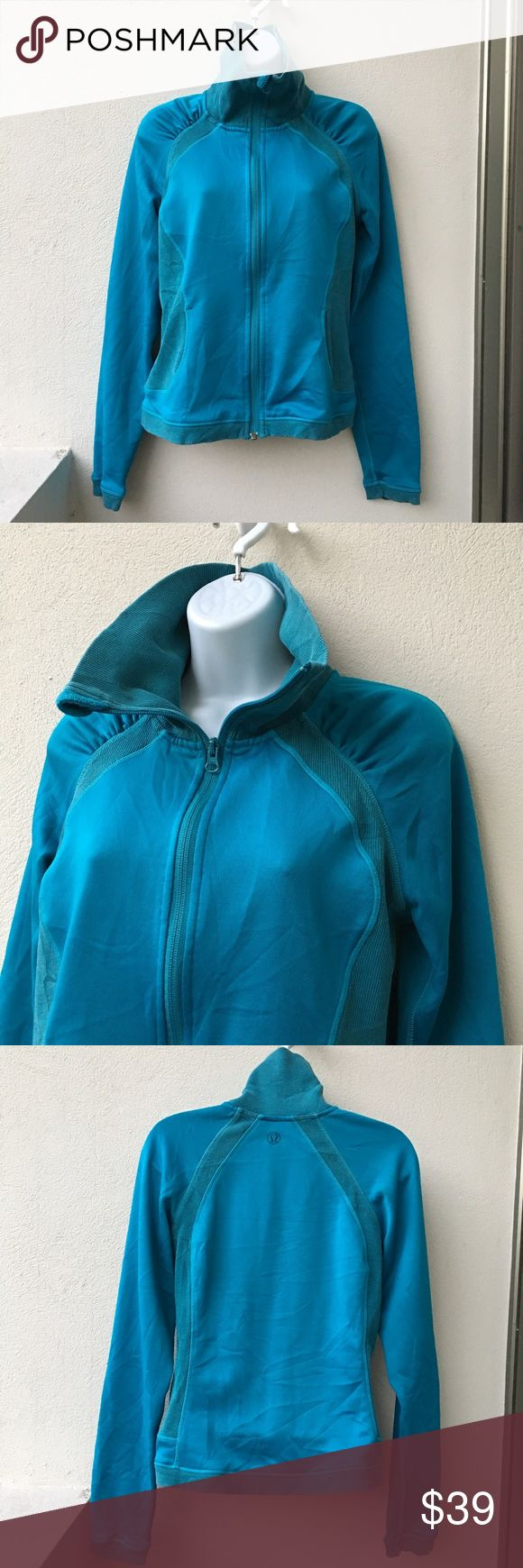Lululemon Aqua Full Zipup Jacket size 6 Preowned Lululemon Aqua Full Zip Jacket size 6. Has thumbholes. Light jacket. Signs of loving wear. Please look at pictures for better reference. Happy shopping! lululemon athletica Tops Sweatshirts & Hoodies