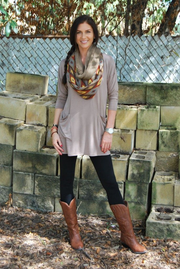 Ladies Long Tunic Sweaters To Wear With Leggings - Baggage -5552