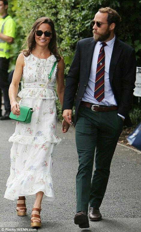 Pippa Middleton Matthews and James Middleton at Wimbledon. July 16 2017