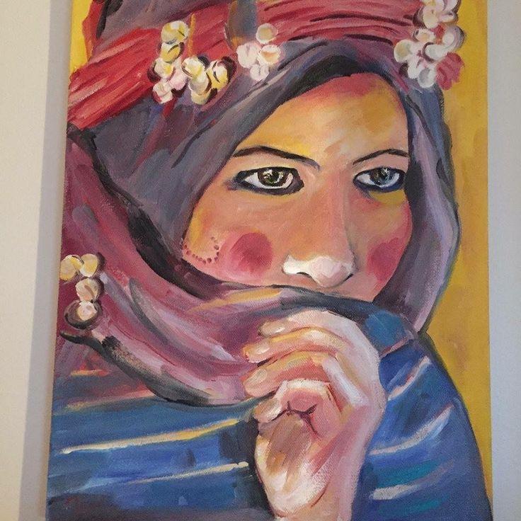 Portrait. Morocco. Oil painting.  Art