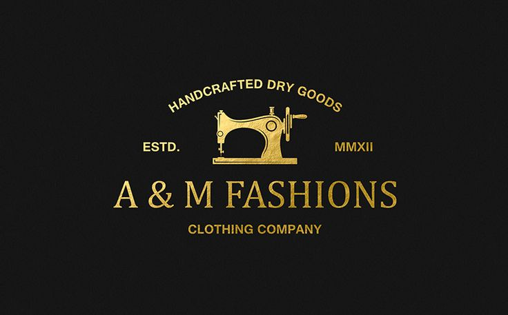 Logo for the A&M Fashions project. #logo, #branding, #identity, #stationery
