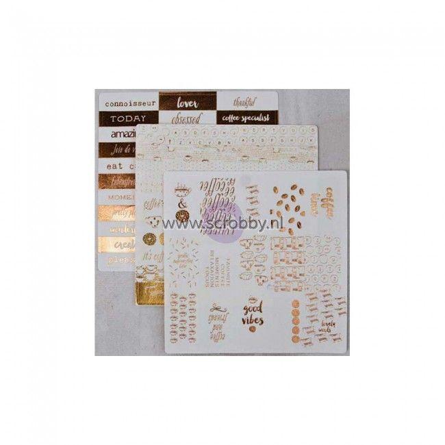 Prima Marketing Washi Stickers 6x6 Coffee Break 2