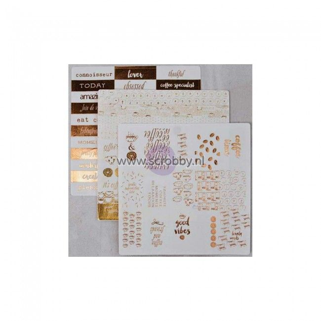 Prima Marketing Washi Stickers 6x6 Coffee Break 2