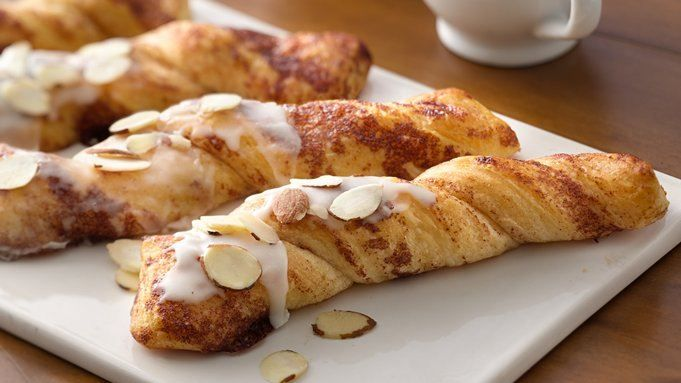 A two ingredient twist sweet treat made with Pillsbury™ Grands!™ refrigerated cinnamon rolls.